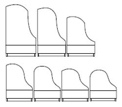 Imagen contornos disponibles para pianos de cola BÖSENDORFER modelos especiales