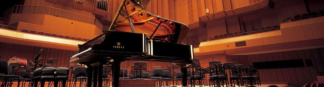 Imagen promocional pianos de cola artesanales yamaha CF series