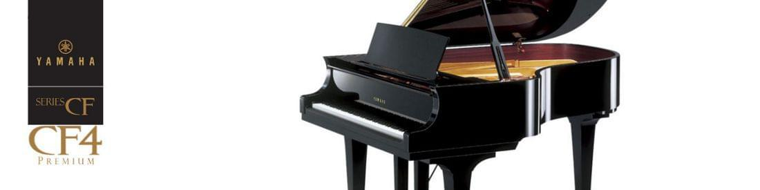 Imagen piano de cola  artesanal YAMAHA premium CF Series. Modelo CF4