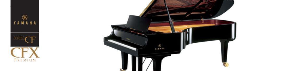 Imagen piano de cola artesanal YAMAHA premium CF Series. Modelo CFX