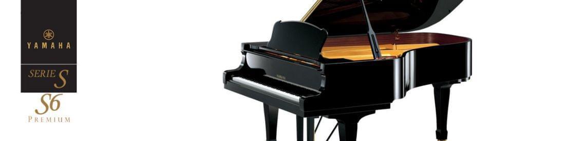 Imagen piano de cola artesanal YAMAHA premium S Series. Modelo S6