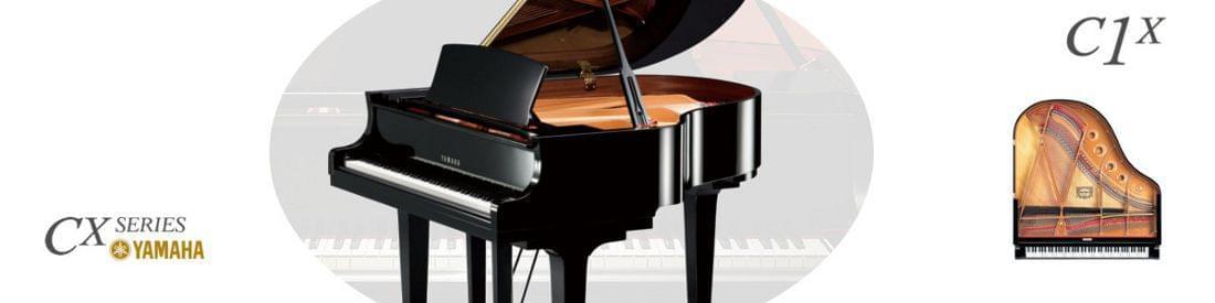 Imagen piano de cola YAMAHA CX Series. Modelo C1X  color negro pulido