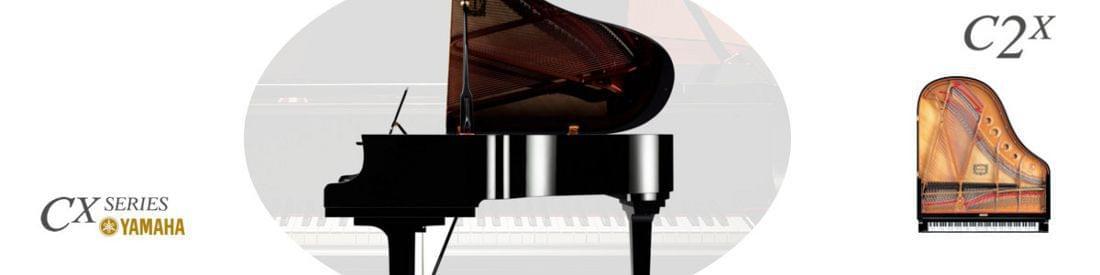 Imagen piano de cola YAMAHA CX Series. Modelo C2X  color negro pulido