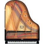 Imagen piano de cola YAMAHA CX Series. Modelo C3X negro pulido vista cenital