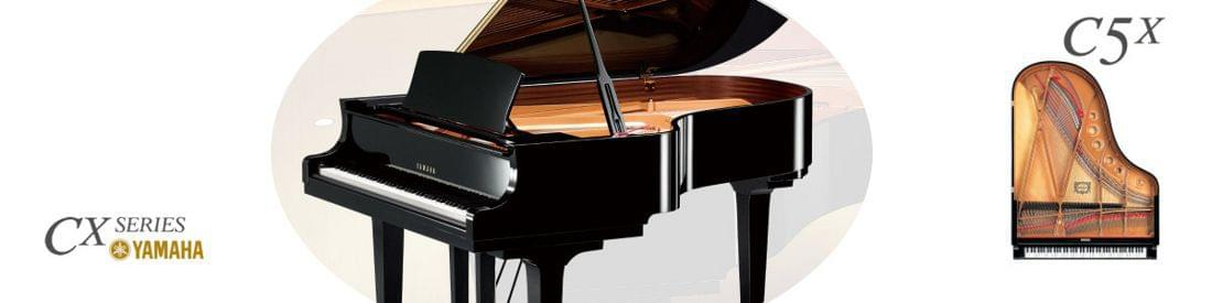 Imagen piano de cola YAMAHA CX Series. Modelo C5X  color negro pulido