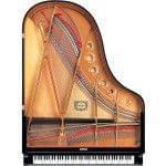 Imagen piano de cola YAMAHA CX Series. Modelo C5X negro pulido vista cenital