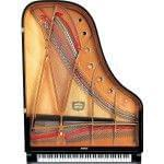Imagen piano de cola YAMAHA CX Series. Modelo C6X negro pulido vista cenital
