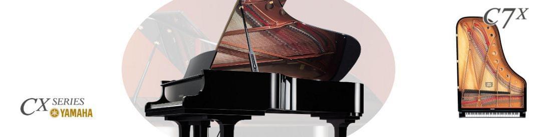 Imagen piano de cola YAMAHA CX Series. Modelo C7X  color negro pulido