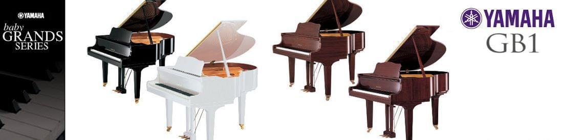 Imagen piano de cola YAMAHA G Series. Modelo GB1  color negro pulido