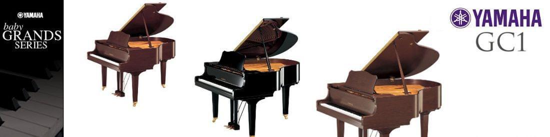 Imagen piano de cola YAMAHA G Series. Modelo GC1  color negro pulido