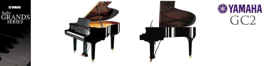 Imagen piano de cola YAMAHA G Series. Modelo GC2  color negro pulido