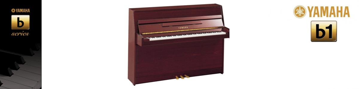 Imagen piano vertical YAMAHA. B Series modelo B1 color caoba