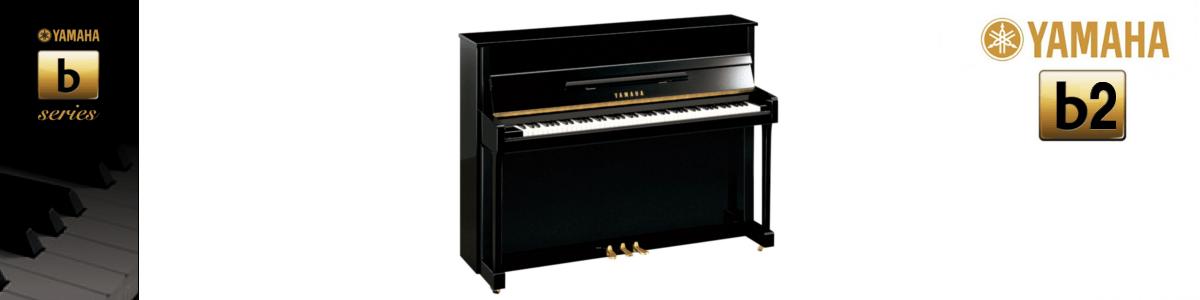 Imagen piano vertical YAMAHA. B Series modelo B2 color negro pulido