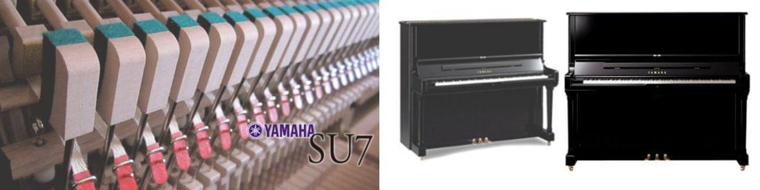 Imagen piano vertical artesanal YAMAHA SU Series. Modelo SU7