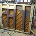Imagen de la restauración de un piano vertical Bechstein en el taller de Corrales Pianos. 02