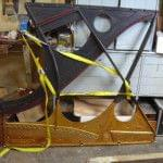 Imagen de la restauración de un piano vertical Bechstein en el taller de Corrales Pianos. 03