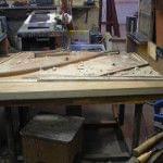 Imagen de la restauración de un piano vertical Bechstein en el taller de Corrales Pianos. 06