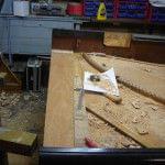 Imagen de la restauración de un piano vertical Bechstein en el taller de Corrales Pianos. 07