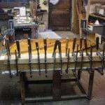 Imagen de la restauración de un piano vertical Bechstein en el taller de Corrales Pianos. 08