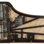 Imagen sistema CEUS instalado en un piano BÖSENDORFER. Vista cenital del interior