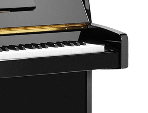Detalle teclado piano KEMBLE colección Family modelo Cambridge. Color negro