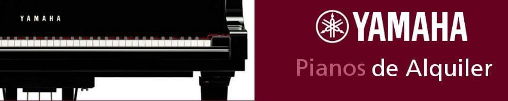 Imagen promoción anunciando el servicio de alquiler de pianos YAMAHA