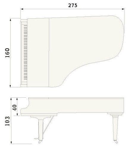 Imatge del contorn piano de cua YAMAHA model CFX
