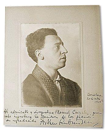 Imatge de la  Dedicatòria d'Arthur Rubinstein