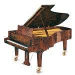 Imagen piano de cola GROTRIAN model especial 225 concierto madera raiz de nogal