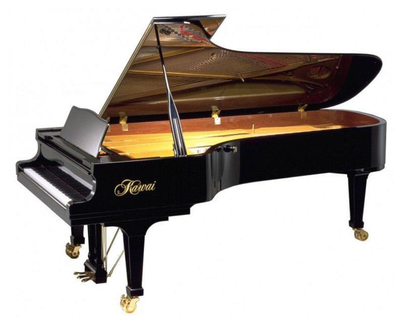 Imagen piano de cola artesanal SHIGERU KAWAI model EX concierto acabado negro pulido