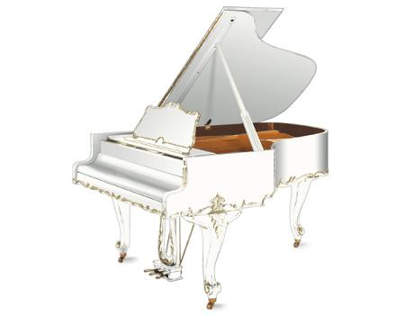 Imatge  piano de cua GROTRIAN. Edició especial model rokoko