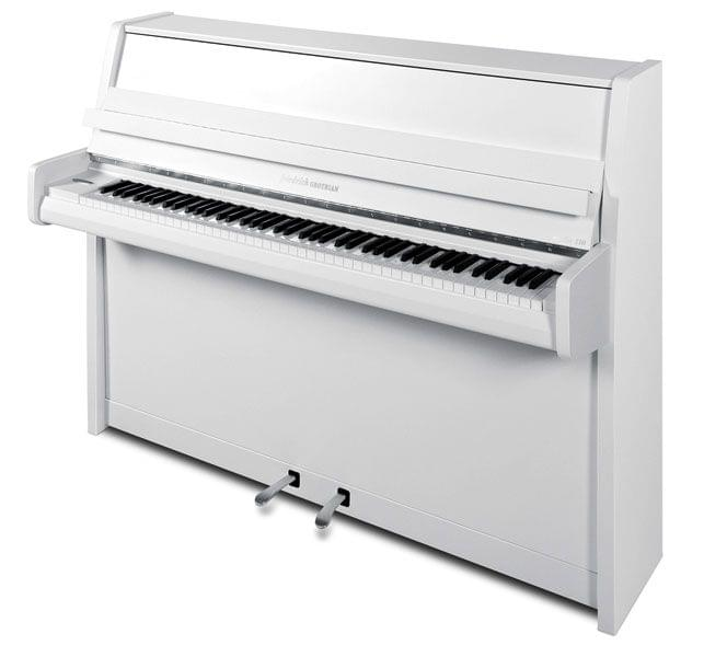 Imagen piano vertical GROTRIAN model Friedrich Grotrian Studio blanco pulido