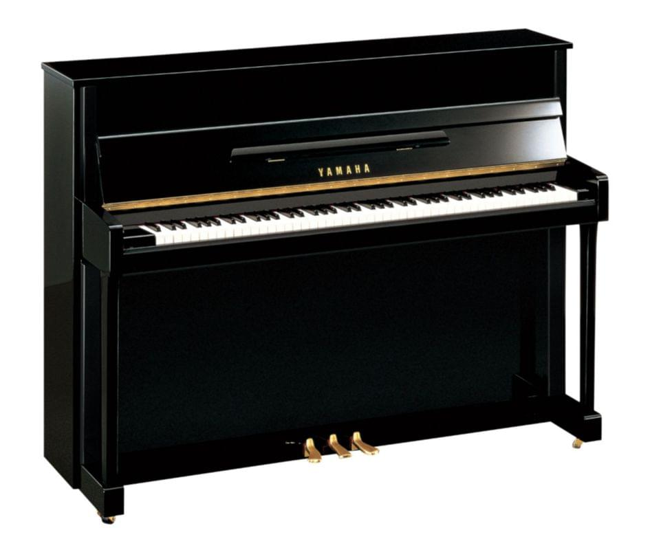 Imagen piano vertical YAMAHA. B Series model B2 color negro pulido