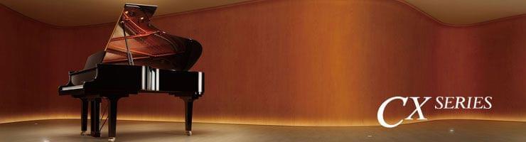 Imatge d'un piano de cua de la sèrie CX de Yamaha
