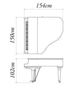 Imatge del contorn piano de cua KAWAI model GE-20