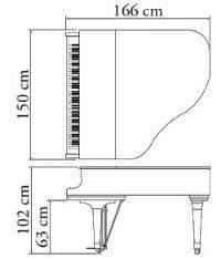 Imatge del contorn piano de cua KAWAI model GX-1