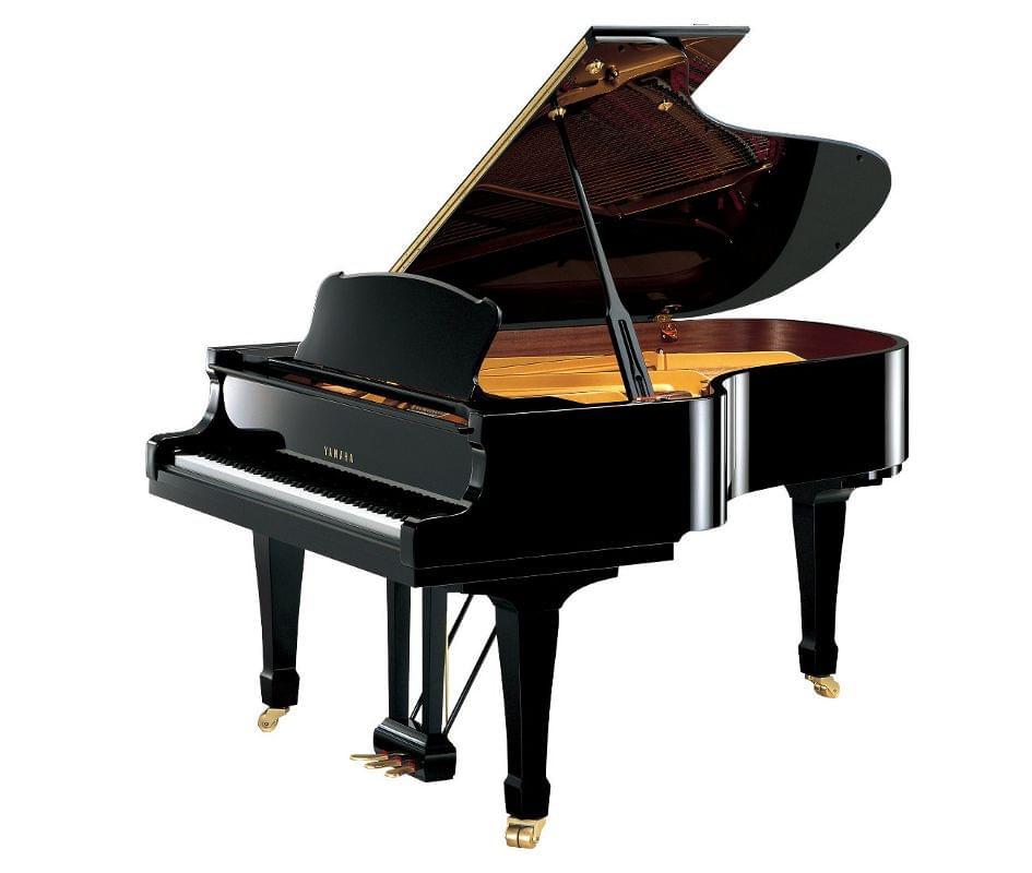 Imagen piano de cola YAMAHA premium S Series. Model S4 color negro pulido