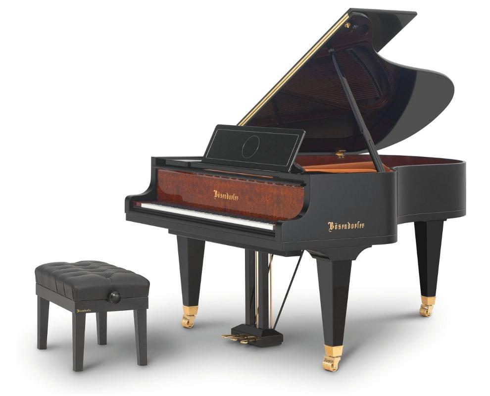 Imagen piano de cola BÖSENDORFER edició limitada 180 aniversario con banqueta