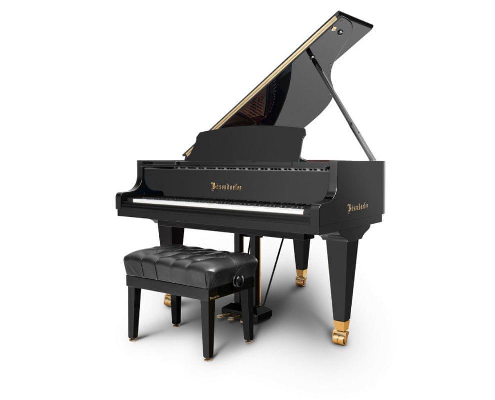 Imagen piano de cola BÖSENDORFER model estándar 155 color negro con banqueta
