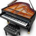 Imagen piano de cola BÖSENDORFER model 155 vista elevada