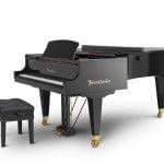 Imagen piano de cola BÖSENDORFER model 225 cerrado con banqueta