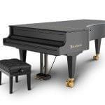 Imagen piano de cola BÖSENDORFER model 280 cerrado con banqueta