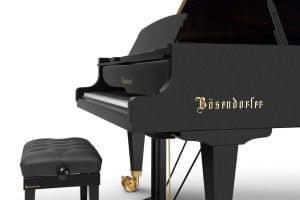 Imagen piano de cola BÖSENDORFER model 280 detalle banqueta teclado