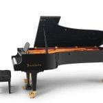 Imagen piano de cola BÖSENDORFER model estándar 280 color negro con banqueta vista lateral