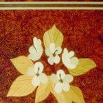 Imagen piano de cola BÖSENDORFER model Artisan detalle decorado floral