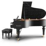Imagen piano de cola BÖSENDORFER model especial Beethoven con banqueta vista lateral