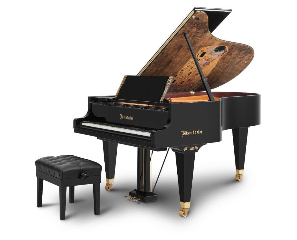Imagen piano de cola BÖSENDORFER modelo especial Klimt con banqueta