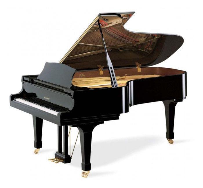Imagen piano de cola KAWAI RX Series model RX-7 acabado negro pulido
