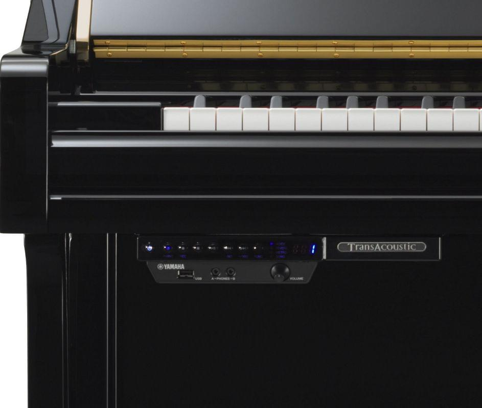Imagen piano vertical YAMAHA. B Series model B1 color negro pulido