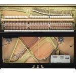 Imagen piano vertical YAMAHA model U1 con Sistema Silent y TransAcoustic, vista frontal del interior